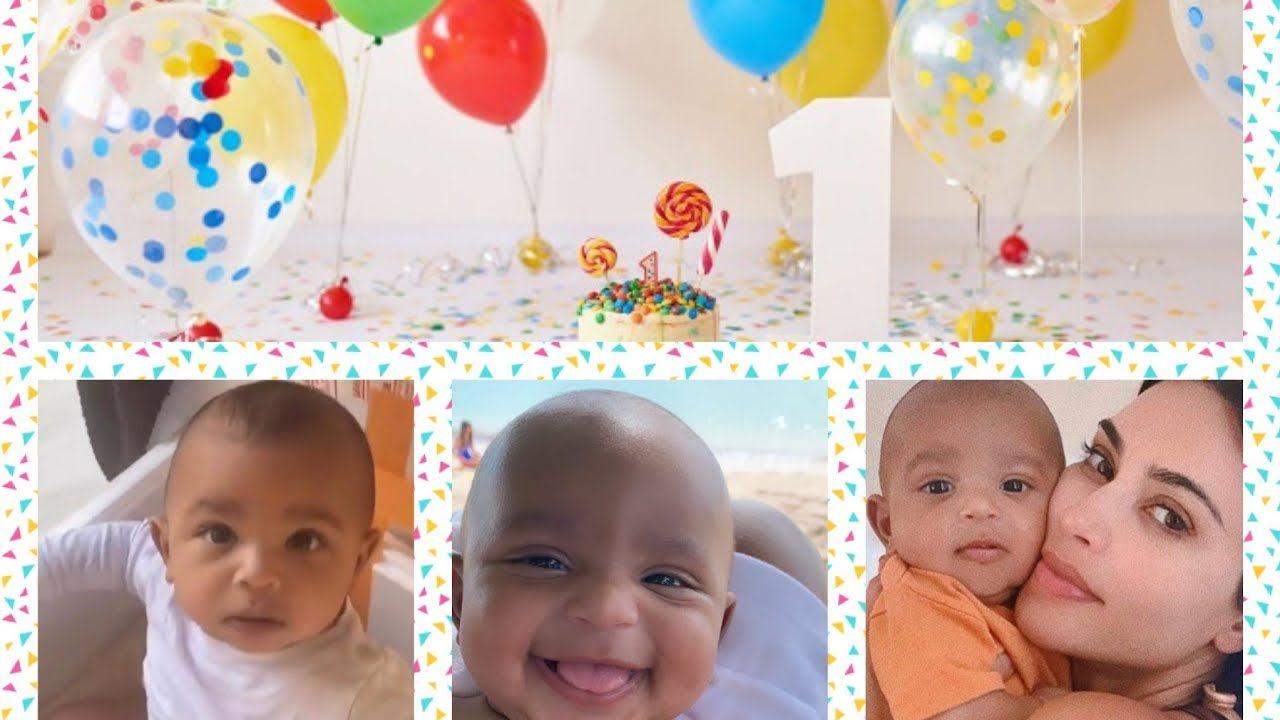 Psalm West Is One Year Old Happy Birthday Psalm West In 2020 Happy Birthday One Year Old Kanye West And Kim