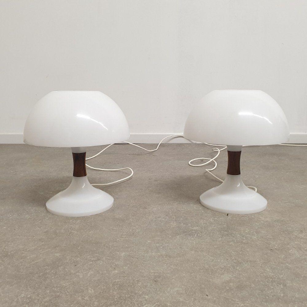 For Sale Vintage Mushroom Table Lamps By Bent Karlby For Ask Belysninger Table Lamp Lamp Vintage Mushroom