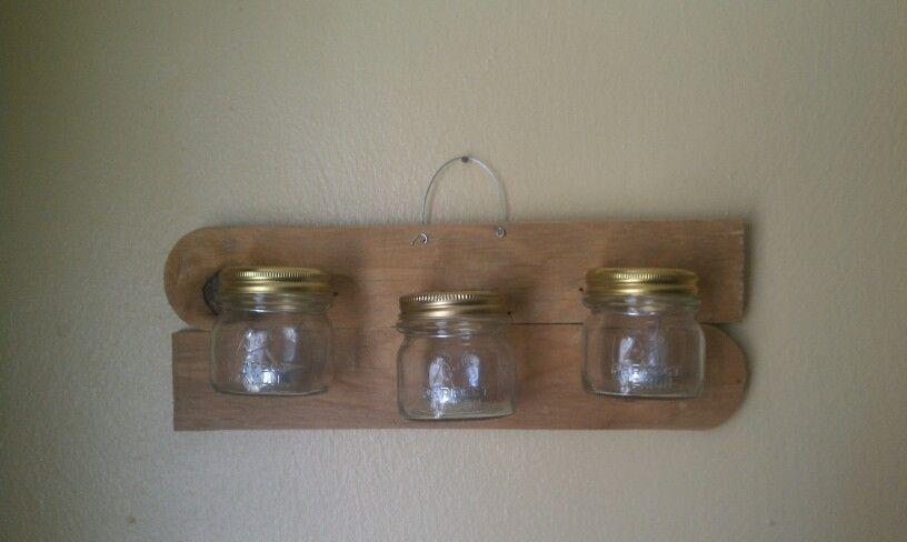 Mason jar western style candle holders. Diy, dercor, wood.