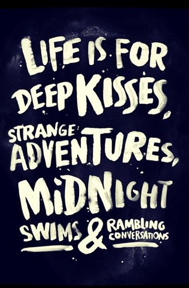 Midnight Swims & rambling conversations. (PS - Follow us on instagram: the_lane)