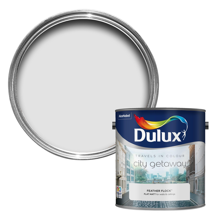 Dulux Travels In Colour Feather Flock Grey Flatt Matt Emulsion Paint 2 5l Departments Diy At B Q Dulux Period Color Cream Paint