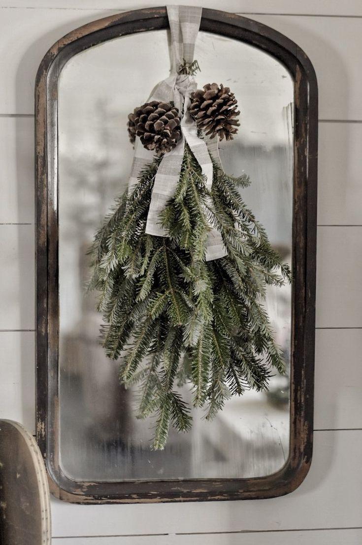Evergreen Christmas Swag #winterdecor