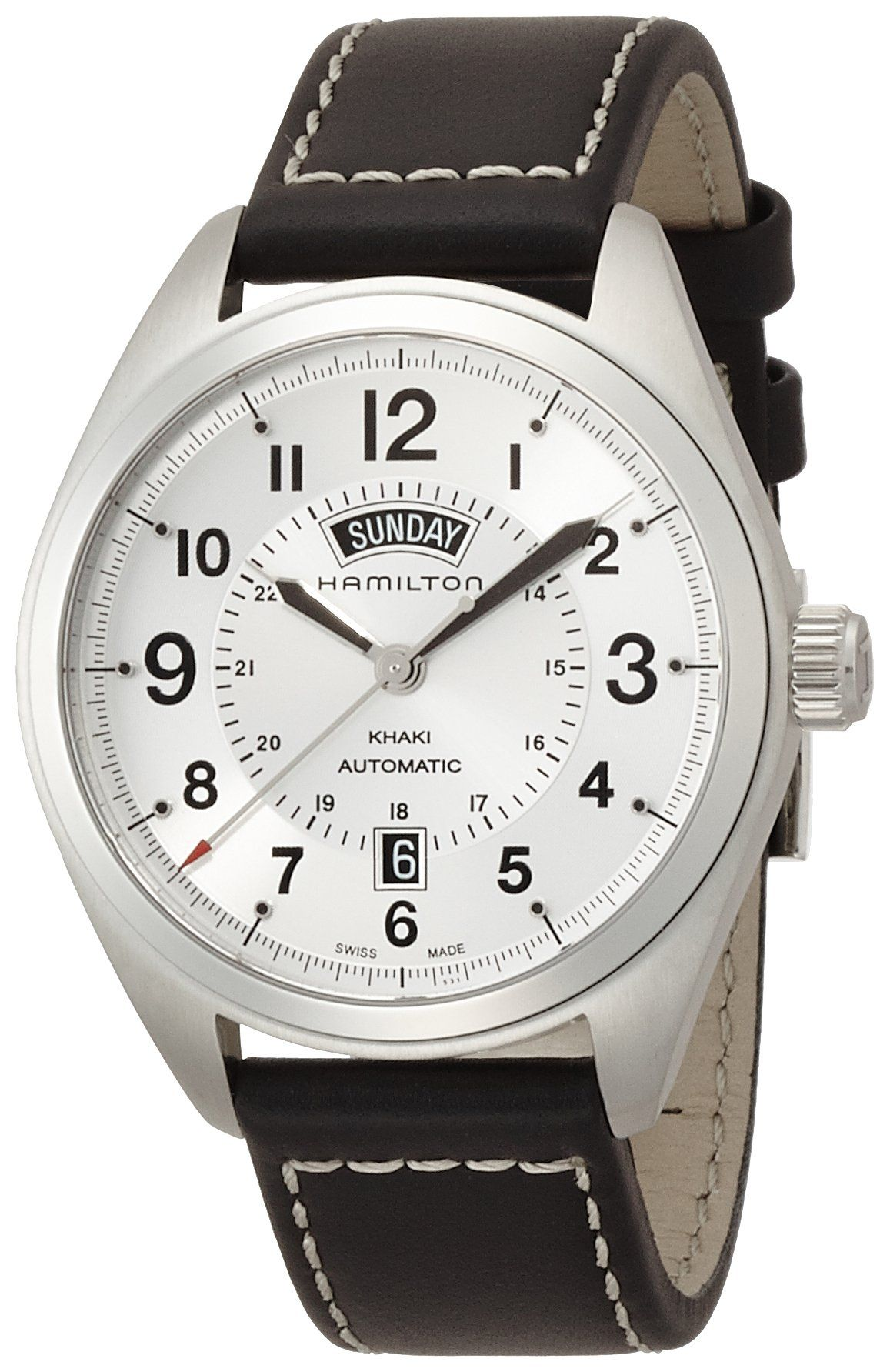 119d8e4c2 Hamilton Khaki Field Day Date Auto Mens Watch H70505753 Swiss Automatic
