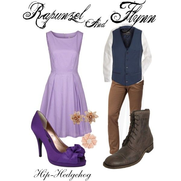 Cute - themed without being in your face!  Rapunzel and Flynn DisneyBound outfits