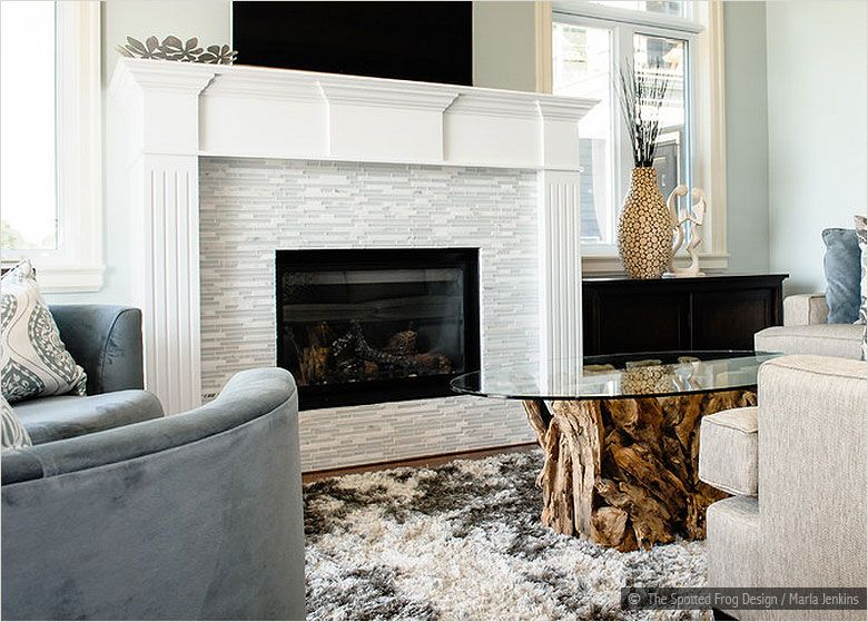 White Gl Marble Tile Fireplace This Looks Very Similar To Our Mantle Would Be