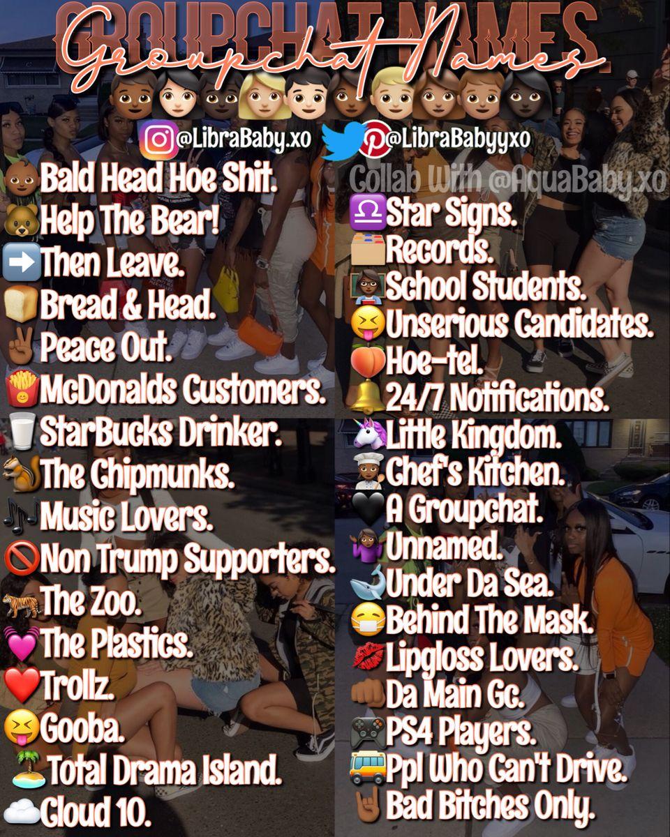 Groupchat Names💛 in 2020 Snapchat names, Cute snapchat