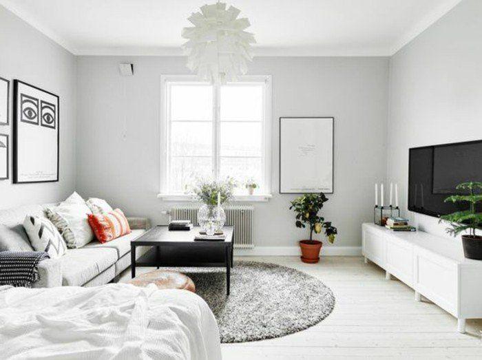 Meubler un studio 20m2 voyez les meilleures id es en 50 photos murs gris - Amenagement chambre 20m2 ...