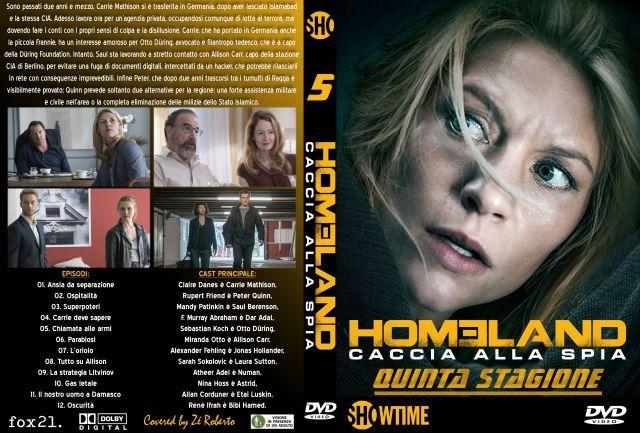 Homeland - Stagione 5 - Serie tv DVD - Galleria Cover - ItaliaCover.com - Cover DVD,Copertine CD,Bluray,Audio,Divx,Anime,PS3,Gratis