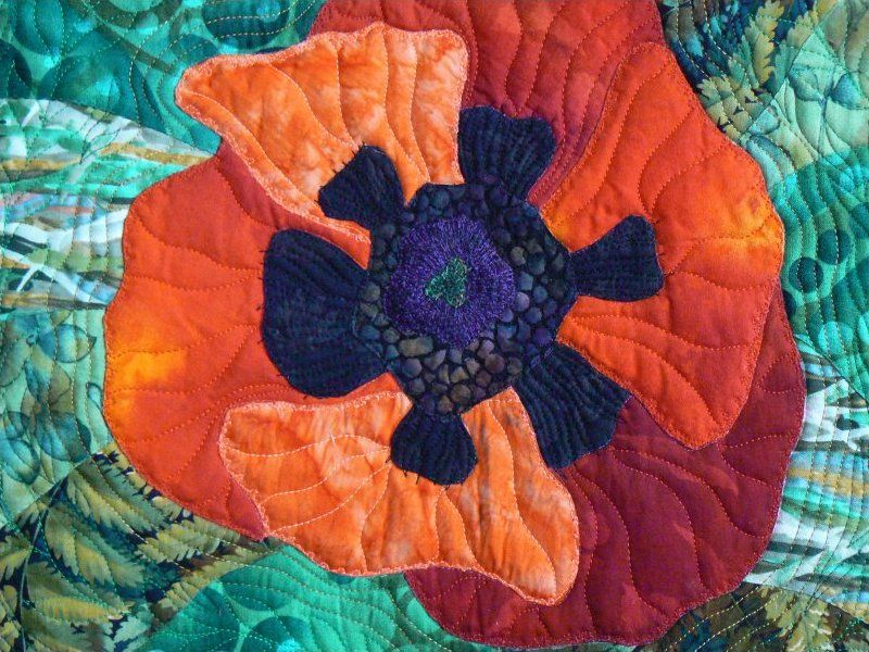 Poppy by Wendy Butler Berns : picture image applique workshop at Quilting in the Desert