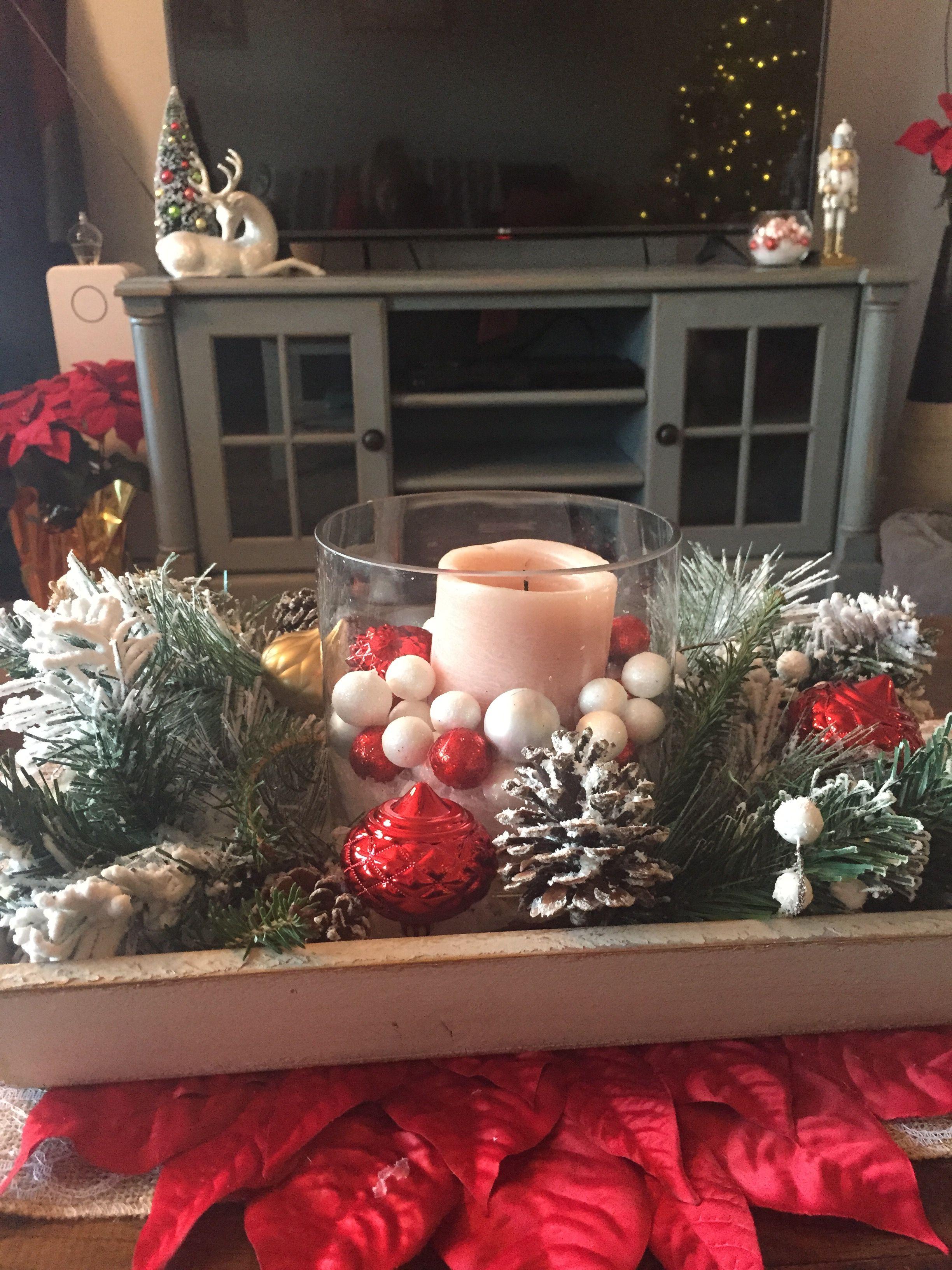Christmas coffee table decor (With images) | Christmas ...
