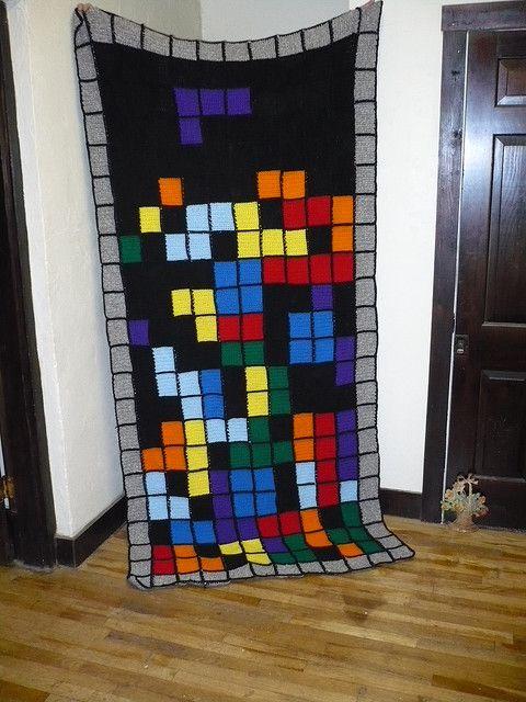 Cuscini Tetris.Tetris Blanket For Sale Uncinetto Coperte E Cuscini