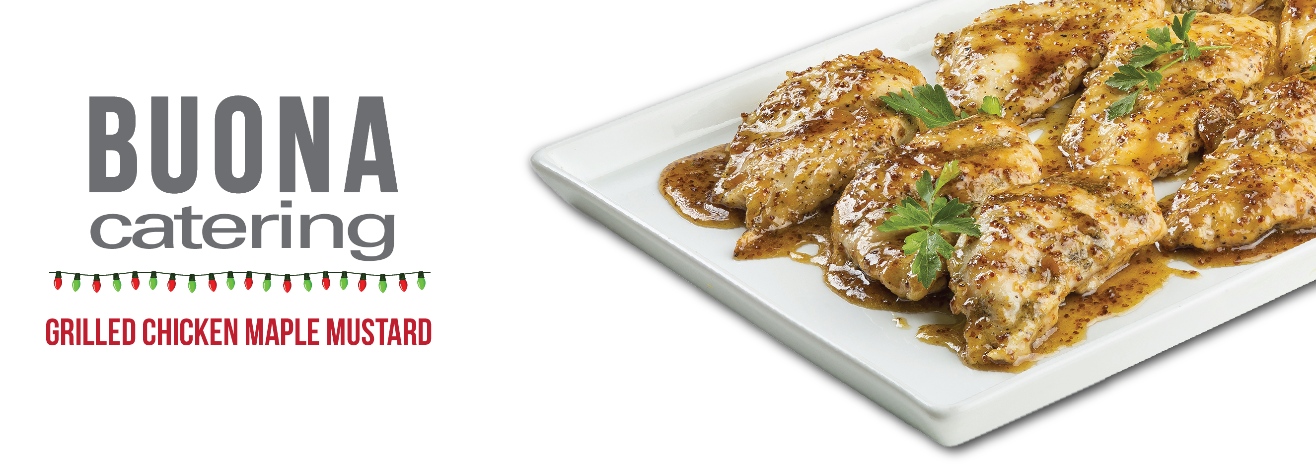 Our new Grilled Chicken Maple Mustard dish is perfect for your holiday party! Grilled boneless breast, Vermont Maple, whole grain mustard, and a touch of honey. View our full holiday catering menu HERE: http://ow.ly/VAG8z #BuonaCatering #BuonaBeef
