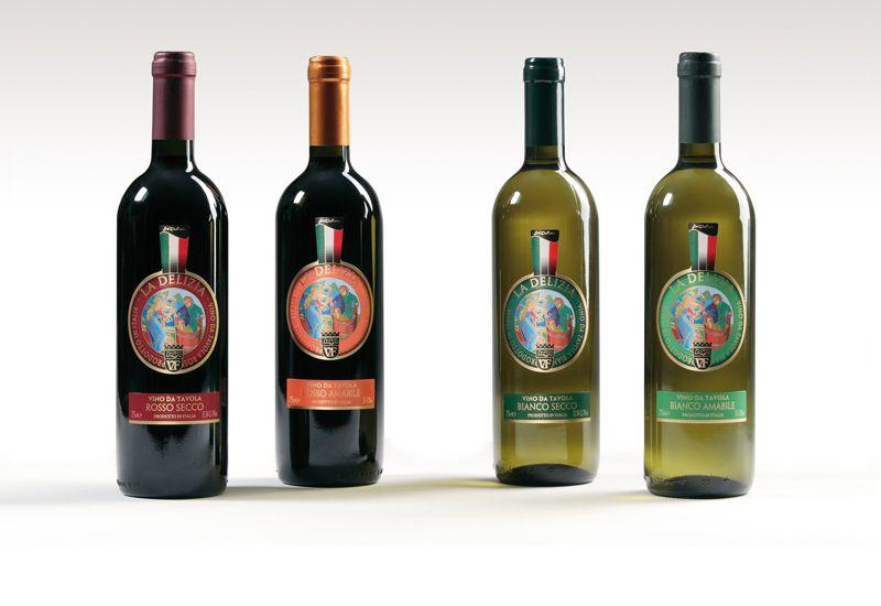 La Delizia - Vini bianchi e rossi - da tavola.