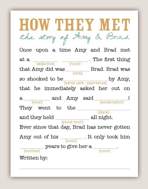 photo regarding Printable Wedding Mad Libs named Do it yourself Printable Wedding ceremony MadLibs by way of swooncreative upon Etsy