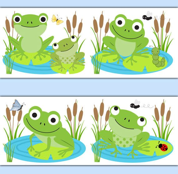 Frog Wallpaper Border Wall Decal Woodland Forest Animal