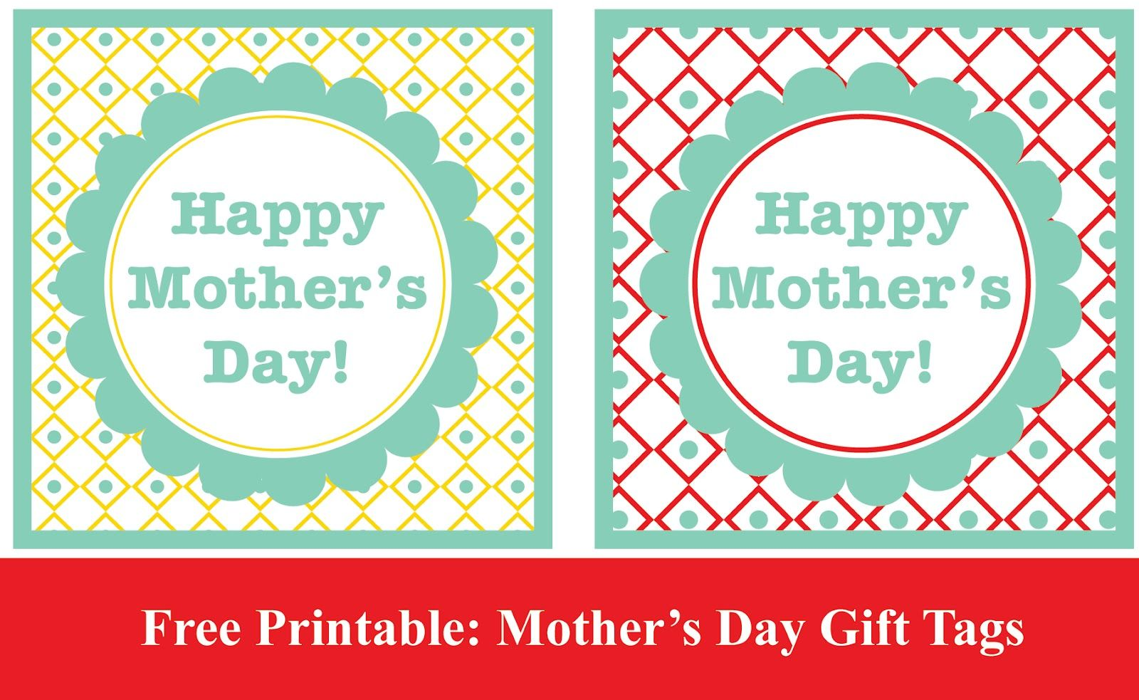 Mother S Day Tags: Free Printable: Mother's Day Gift Tags #thegildedpear