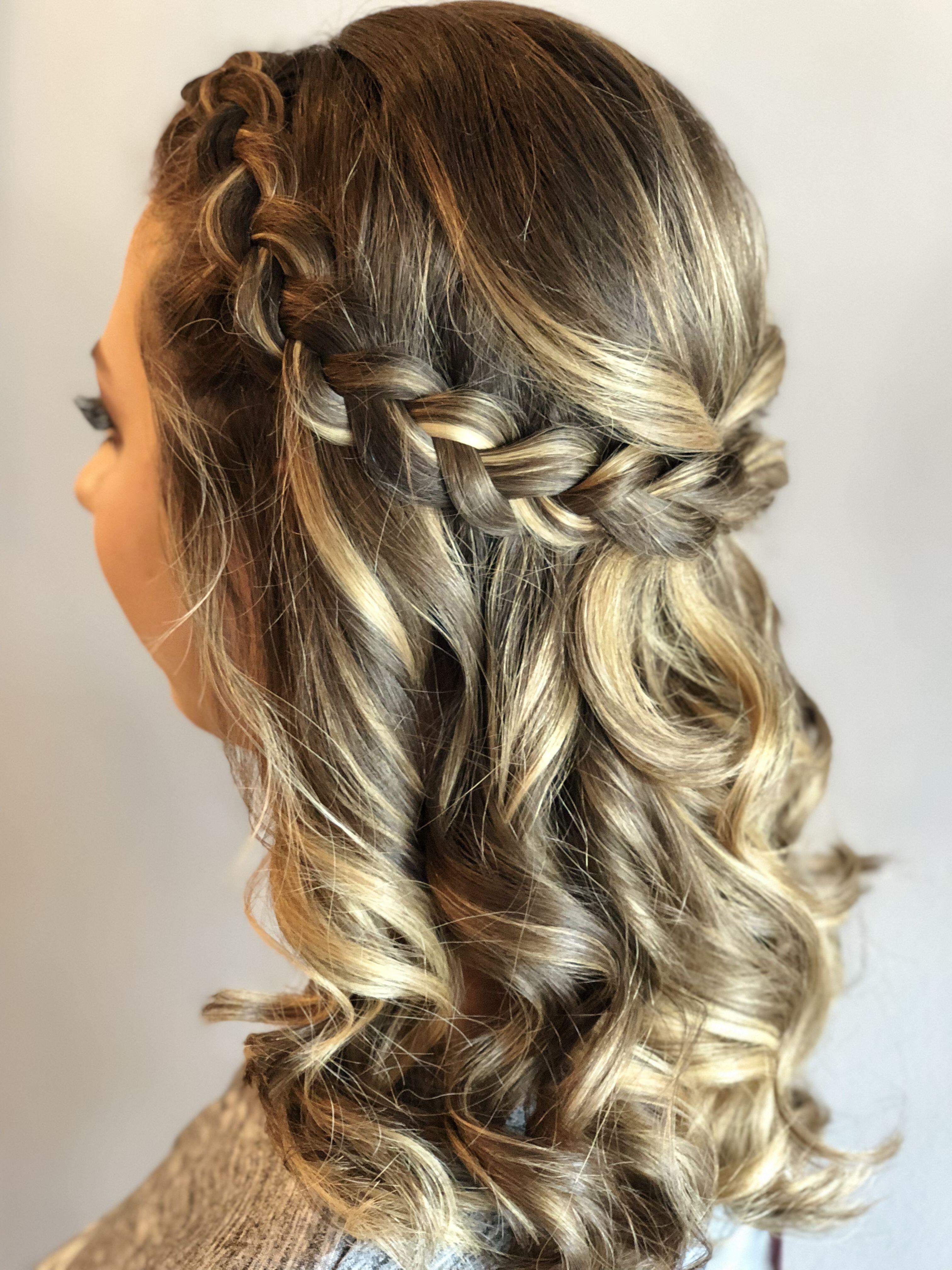 Bella Bombshells Braided Prom Hair Simple Prom Hair Hair Styles