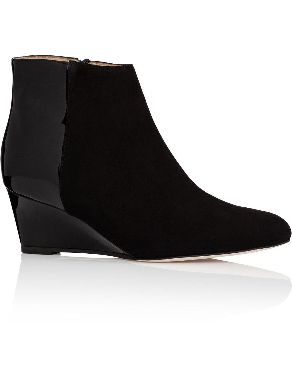 Milana Leather Tilly Wedge Ankle Boot