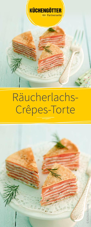 Räucherlachs-Crêpes-Torte