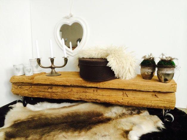 designkonsole xxl antikwachs tv bank und b rsten. Black Bedroom Furniture Sets. Home Design Ideas