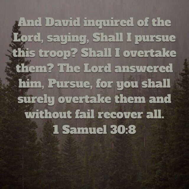 Be like David and seek God first before any decision is made