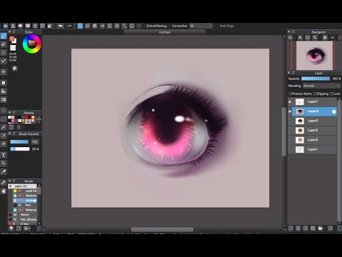 Medibang Paint Pro Desktop Version How To Eye Color Tutorial Part 2 Youtube Drawing Tutorial Anime Drawings Tutorials Digital Art Tutorial