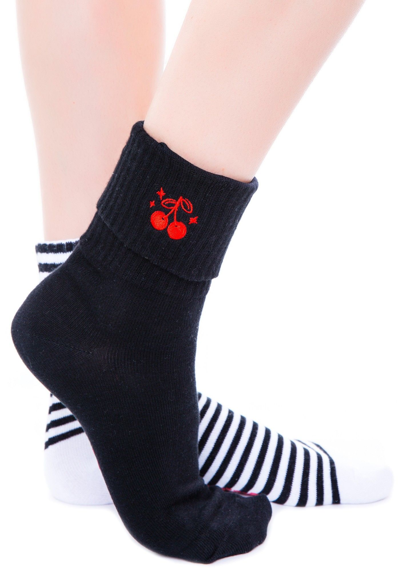 Sourpuss Clothing Cherries Socks Set | Dolls Kill
