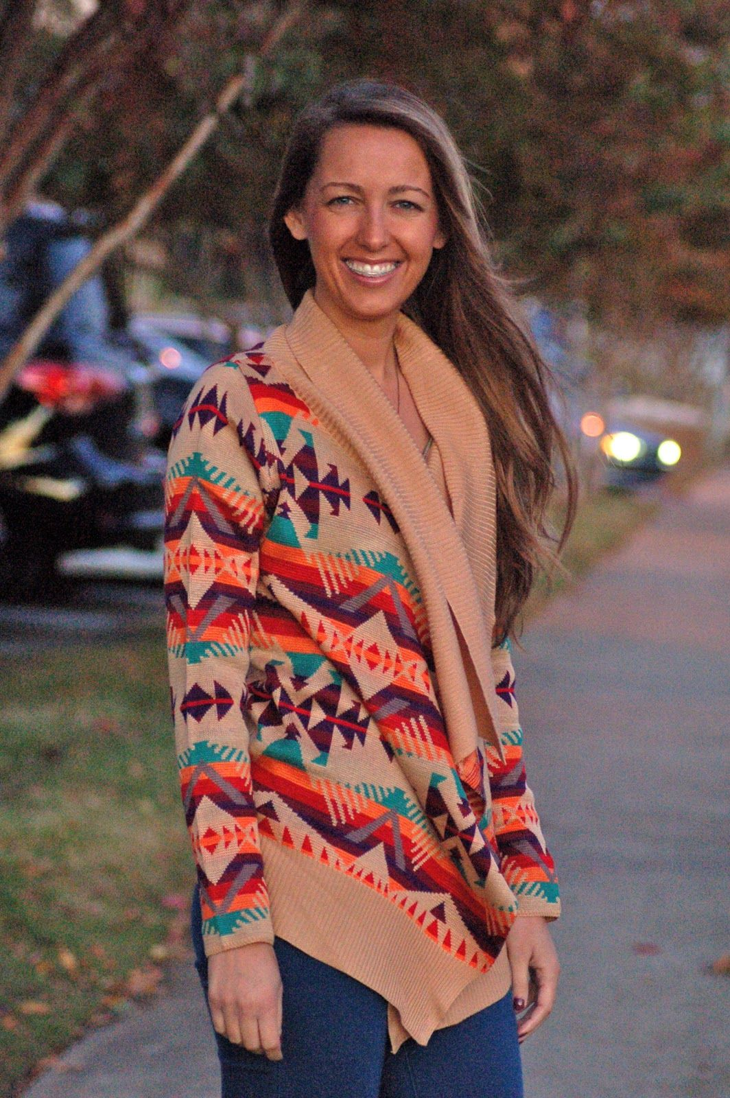 J's Southern Chic tribal sweater.