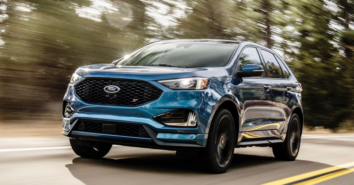 The 335 Horsepower 2019 Ford Edge St Is A Hot Rod For Soccer Moms Ford Edge Ford Suv Cheap Sports Cars