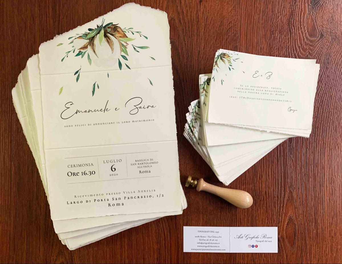 Partecipazioni Di Matrimonio In Carta Amalfi Partecipazioni Nozze Partecipazione Di Matrimonio Nozze
