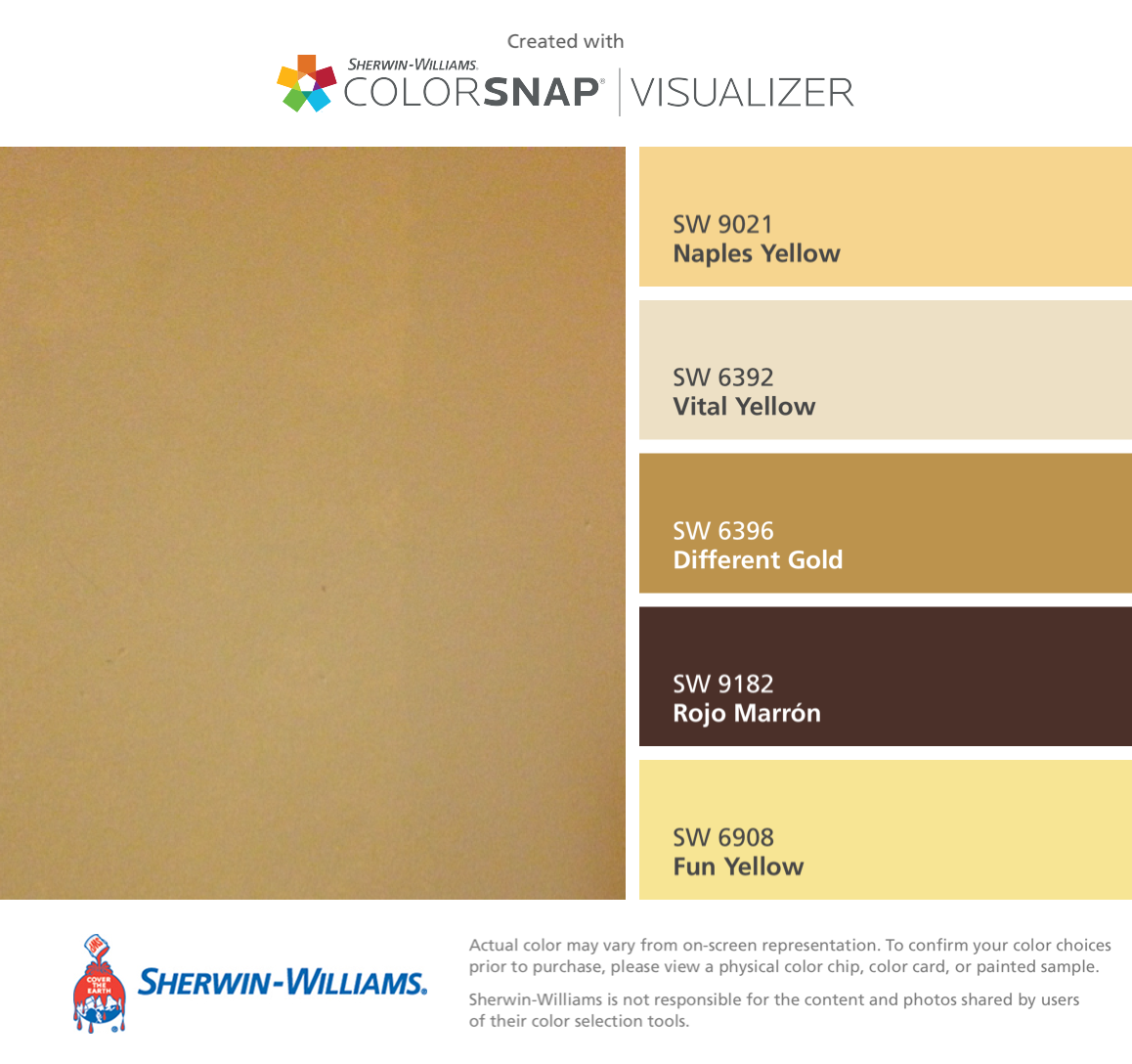 Explore Colors Gold Fusion: I Found These Colors With ColorSnap® Visualizer For IPhone