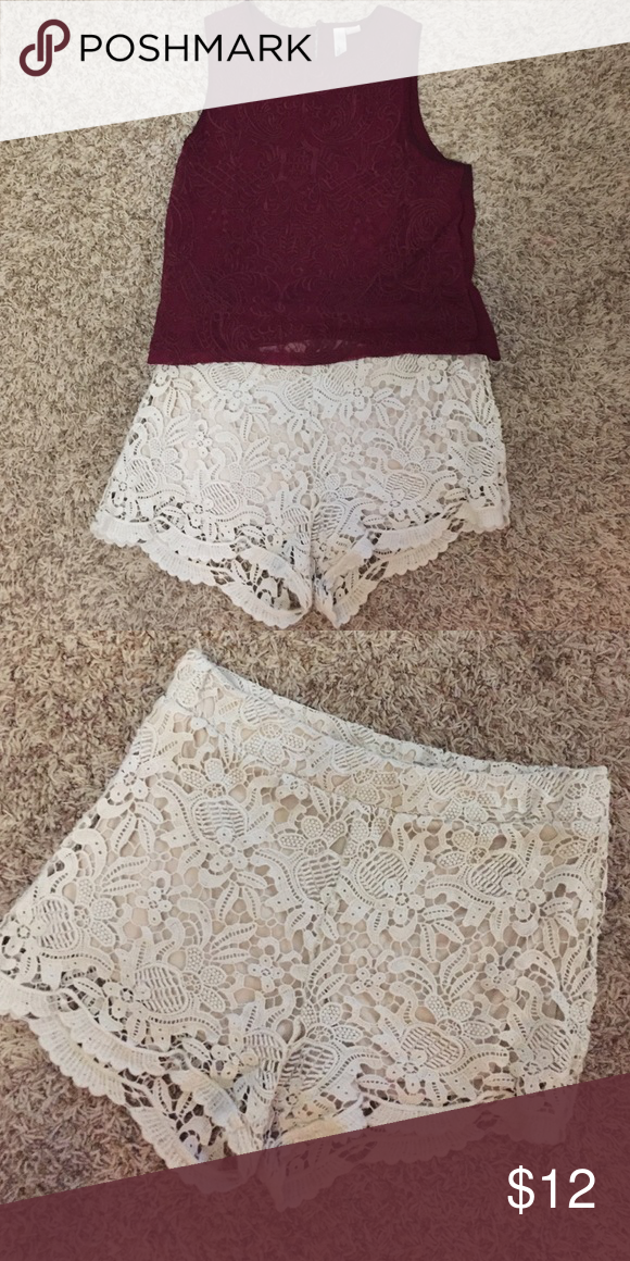 F21 crochet shorts Super comfortable f21 shorts. Forever 21 Shorts