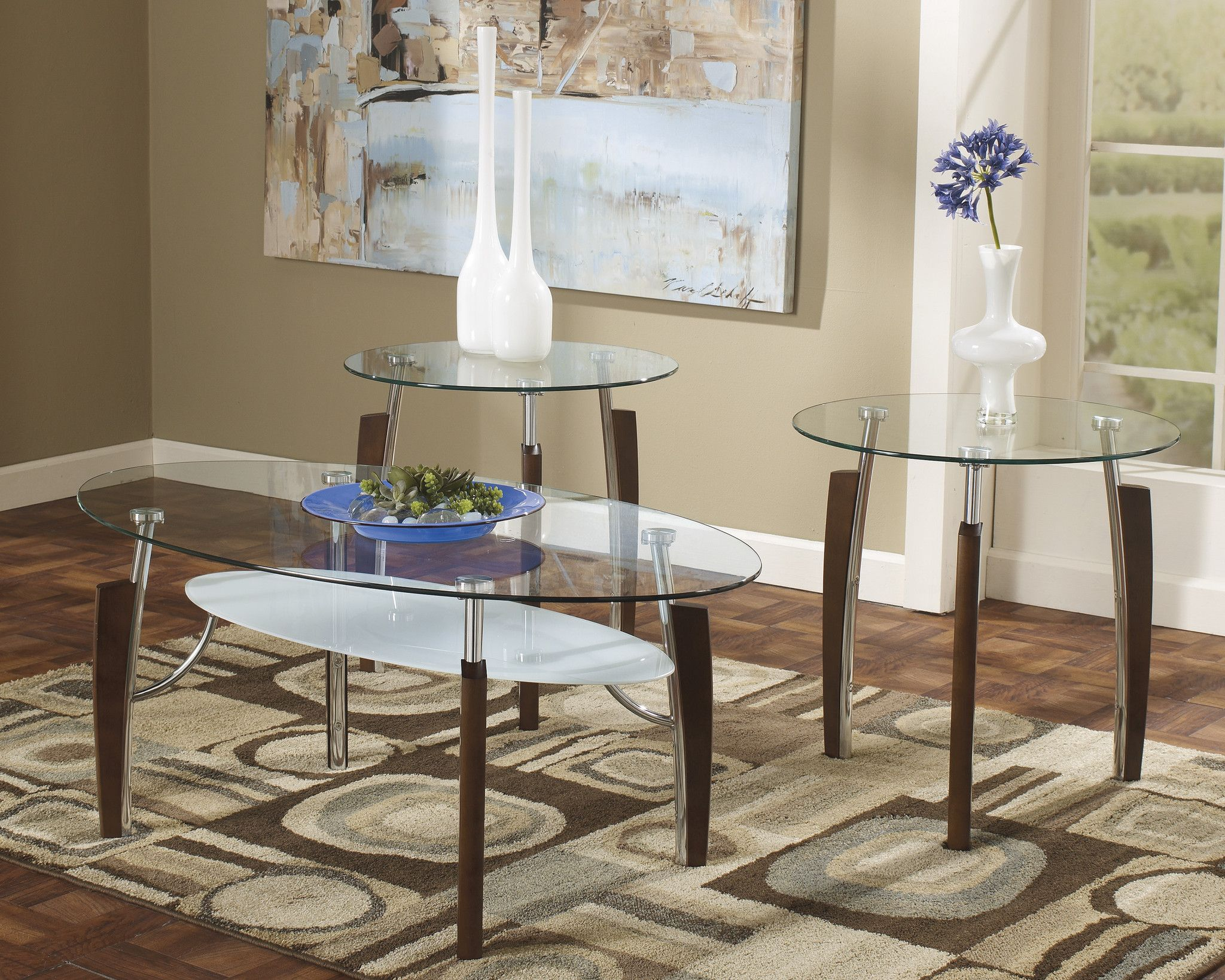 Best Avani Occasional Table Set Coffee End Tables Charcoal 400 x 300