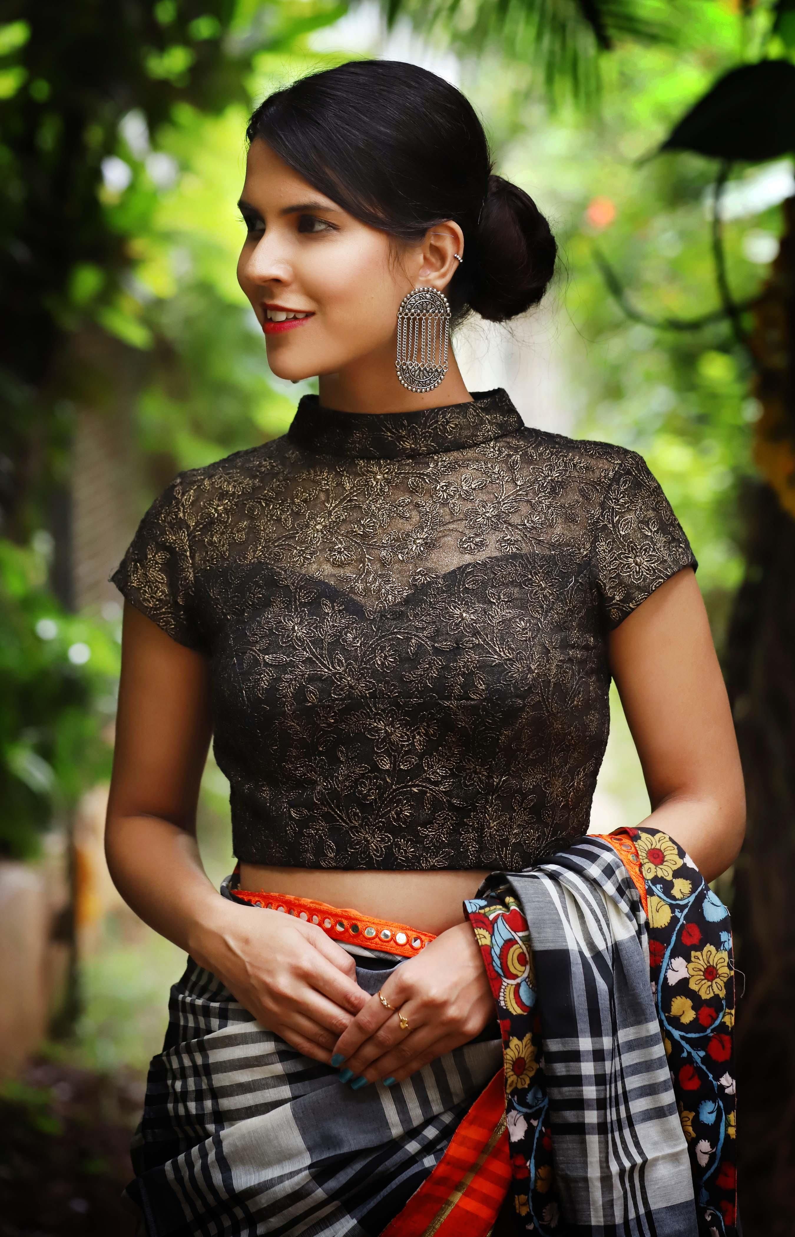 4e86062ffcd915 Designer Black Blouses You Can Shop Right Now! | Blouse Designs ...