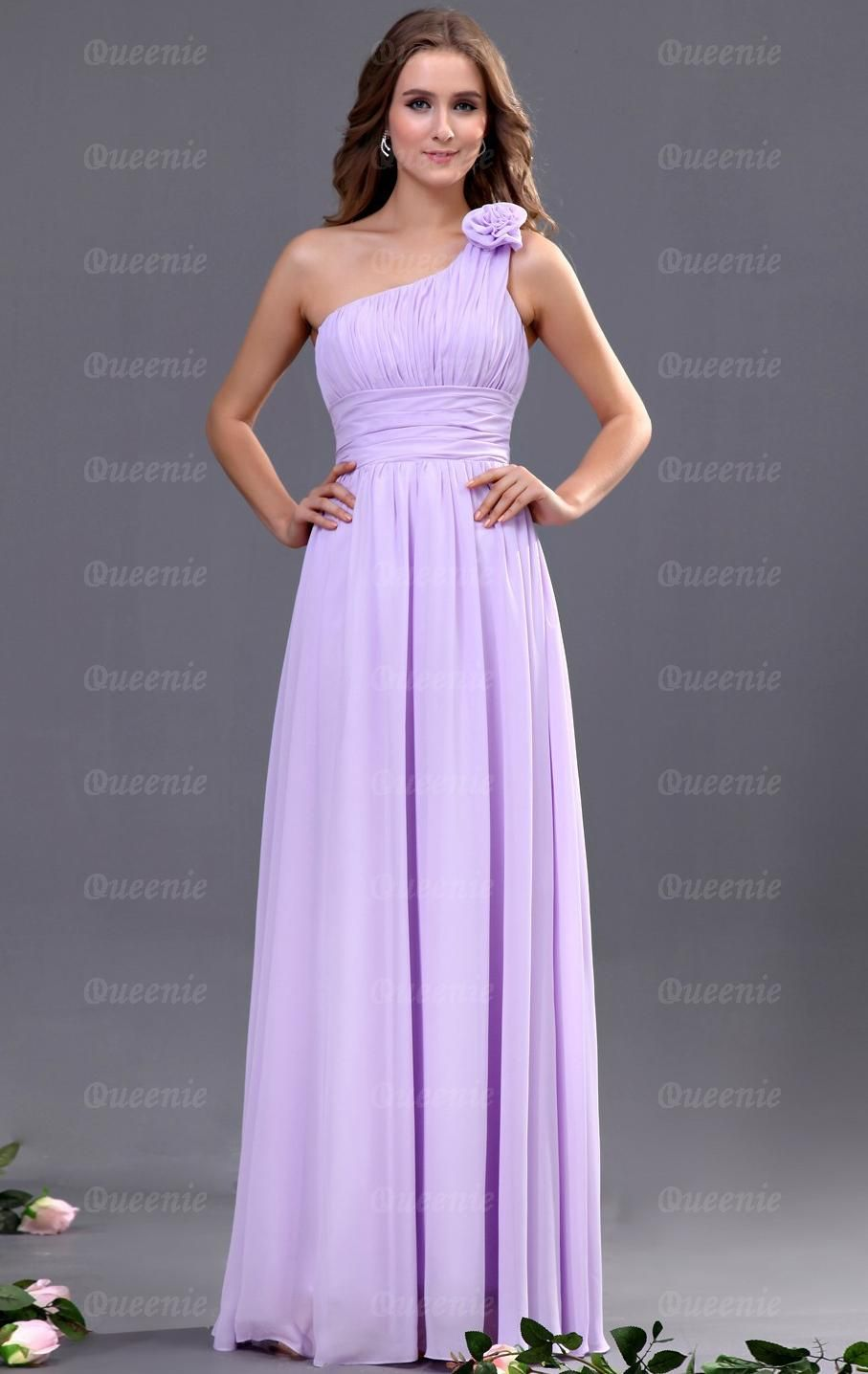 Glamorous One Shoulder Bridesmaid Dresses Designs : Best Lilac ...
