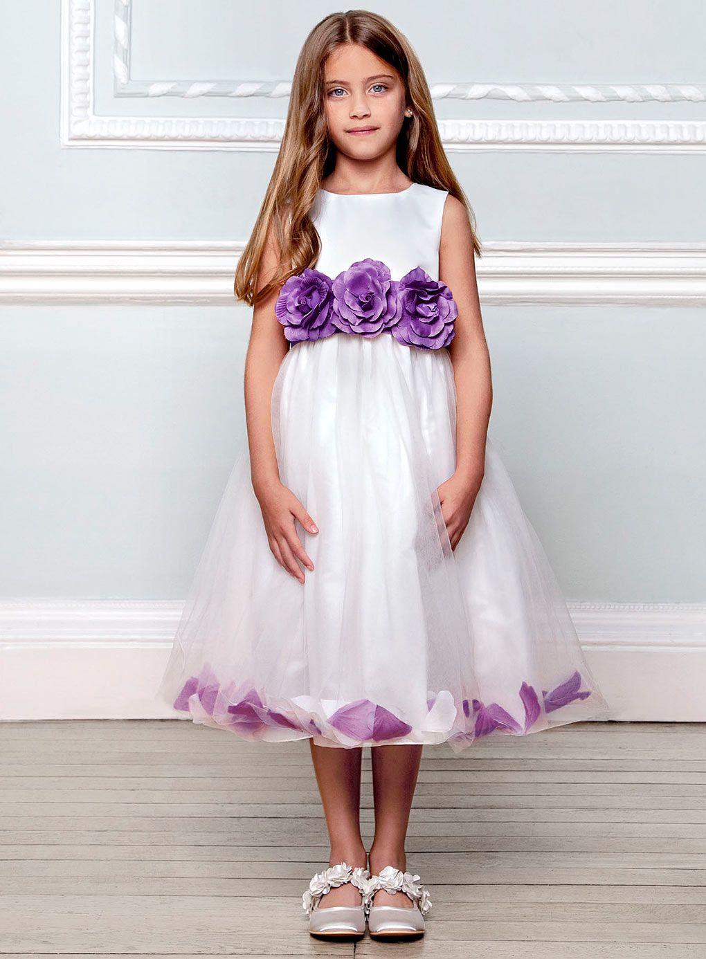 Flora Purple Satin Bridesmaid Dress By Colour Wedding