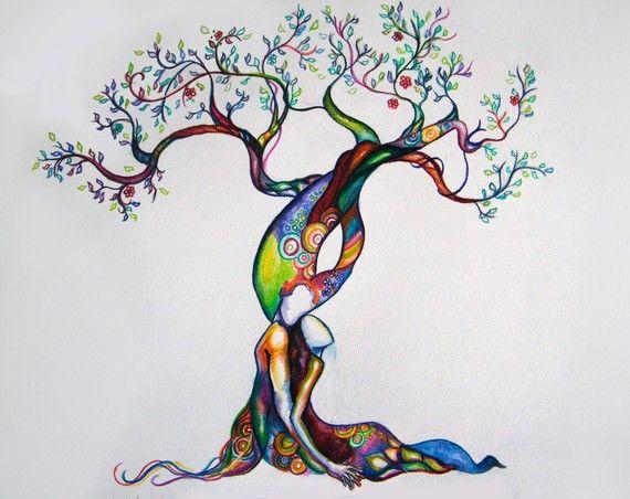 Tree Ketubah Watercolor Ketubah Interfaith Ketubah Modern