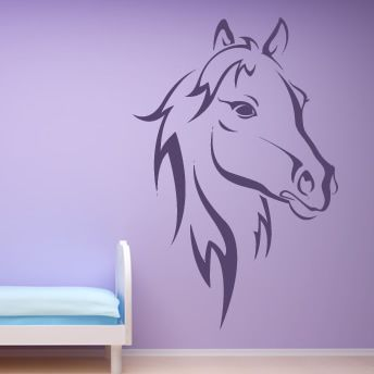 Details About Horse Head Outline Farmyard Animals Wall Sticker Wall