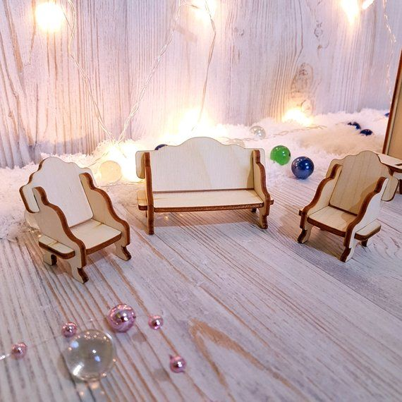 Doll House Assembly Furniture For Lol Surprise Baby Girl Gift Wooden