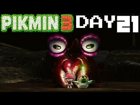 Pikmin 3 Creepy Crawmad Day 21 Nintendo Wii U Hd Gameplay