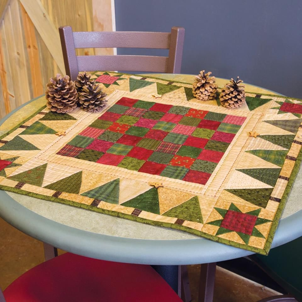 This Topper Is Full Of Holiday Charm Christmas Patchwork