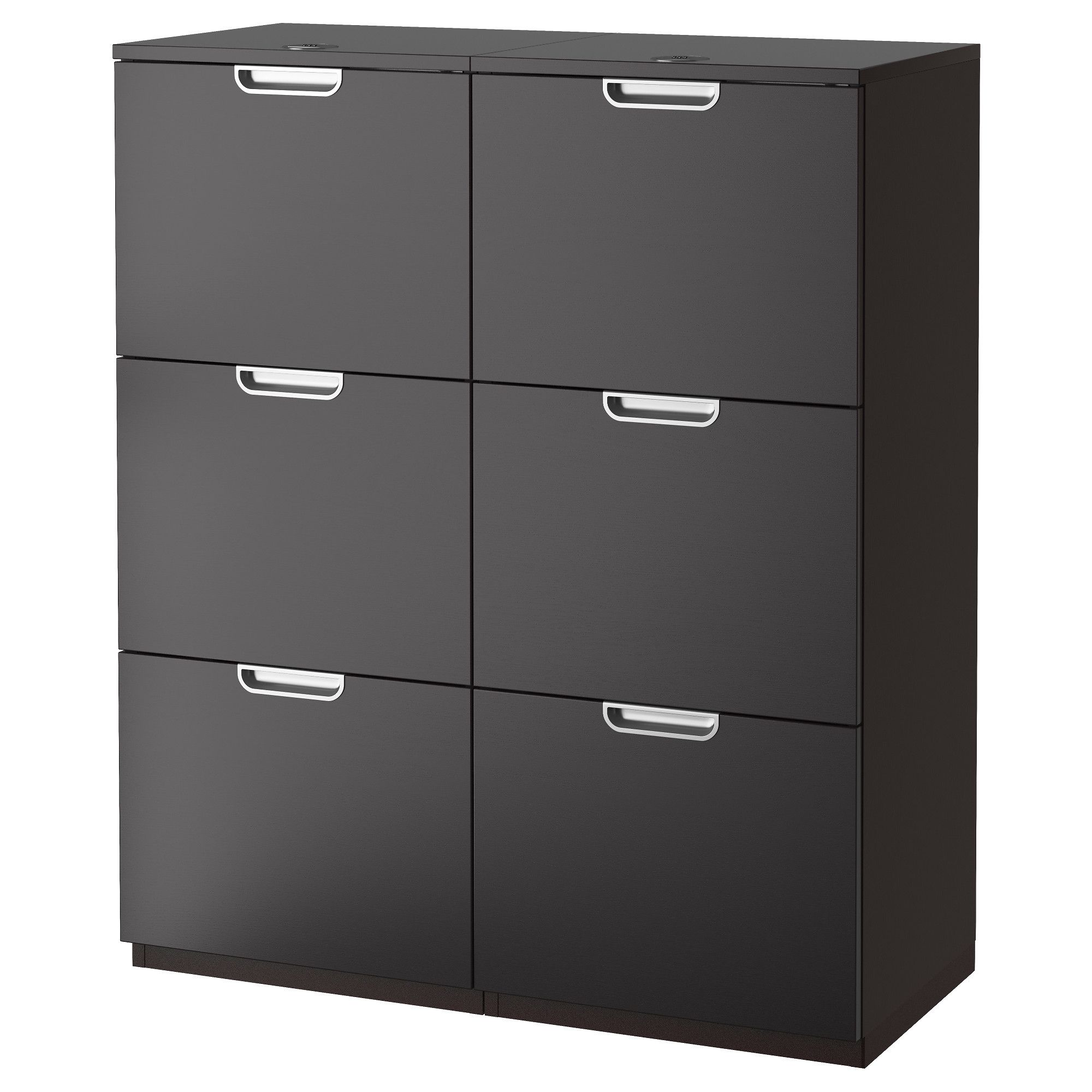 Ikea galant storage combination with filing black brown 10 year limited