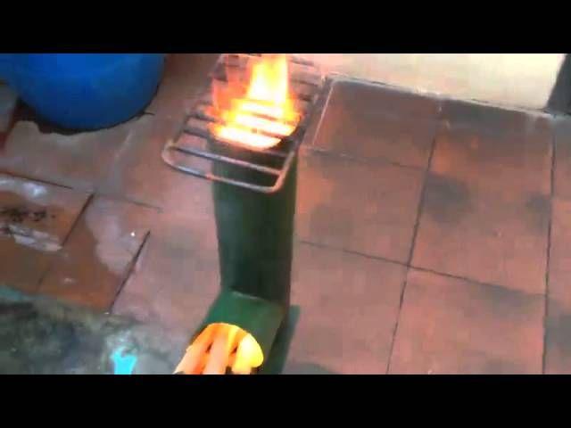 Cocina econ mica rocket stove cocinas rocket for Planos para fabricar una cocina cohete