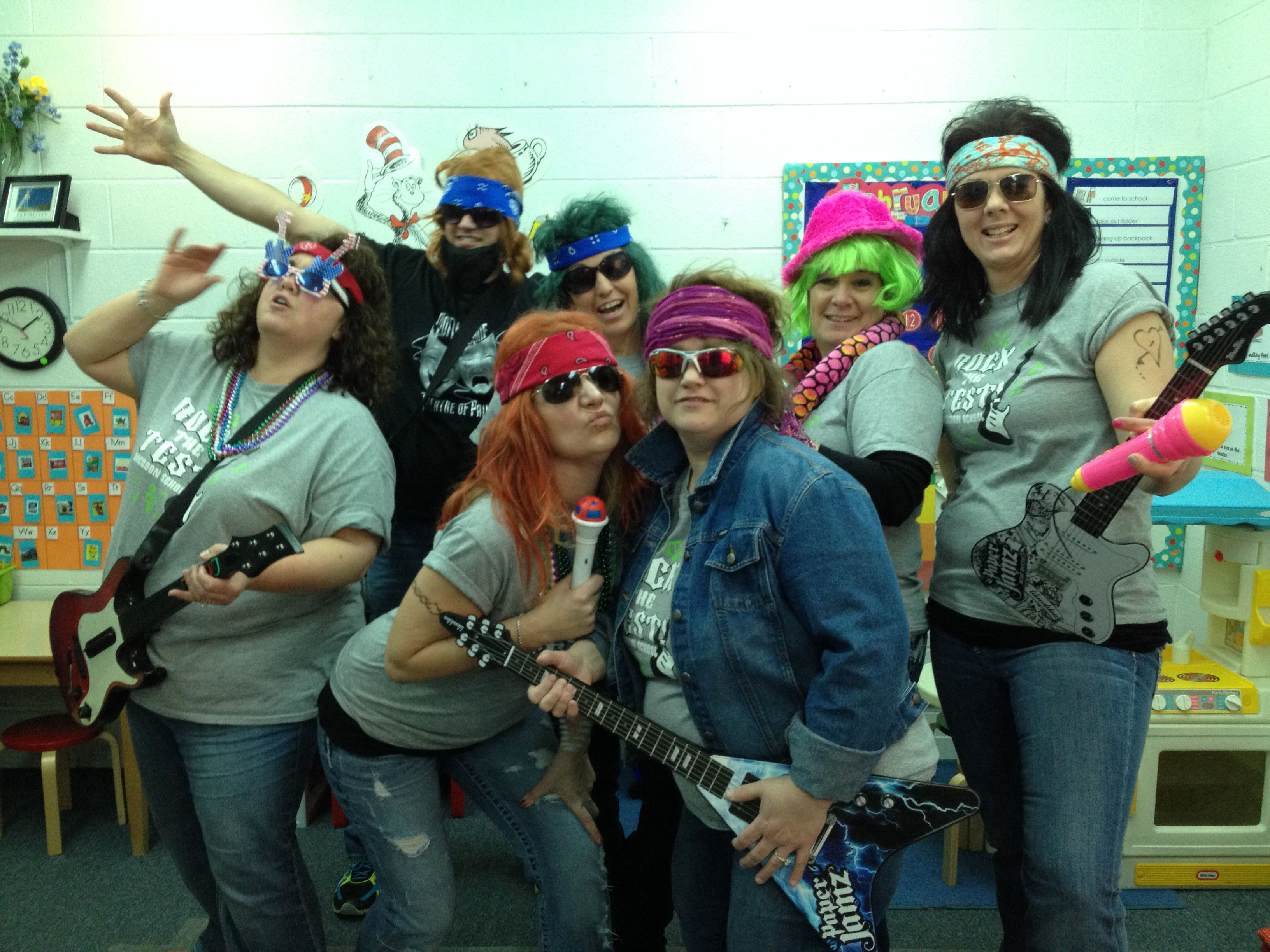 Isat Pep Rally Teachers Pumping Up Their Students For Testing Pep Rally Staar Motivation Testing Motivation