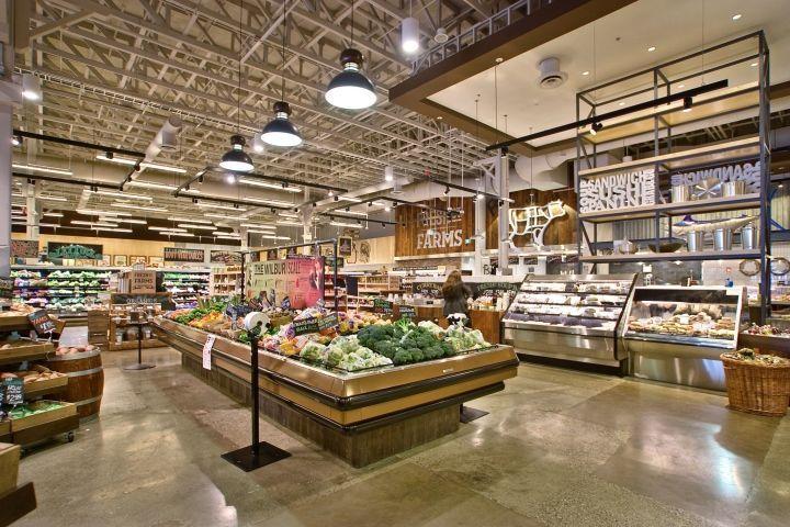 Artisanal dairy displays supermarket design retail