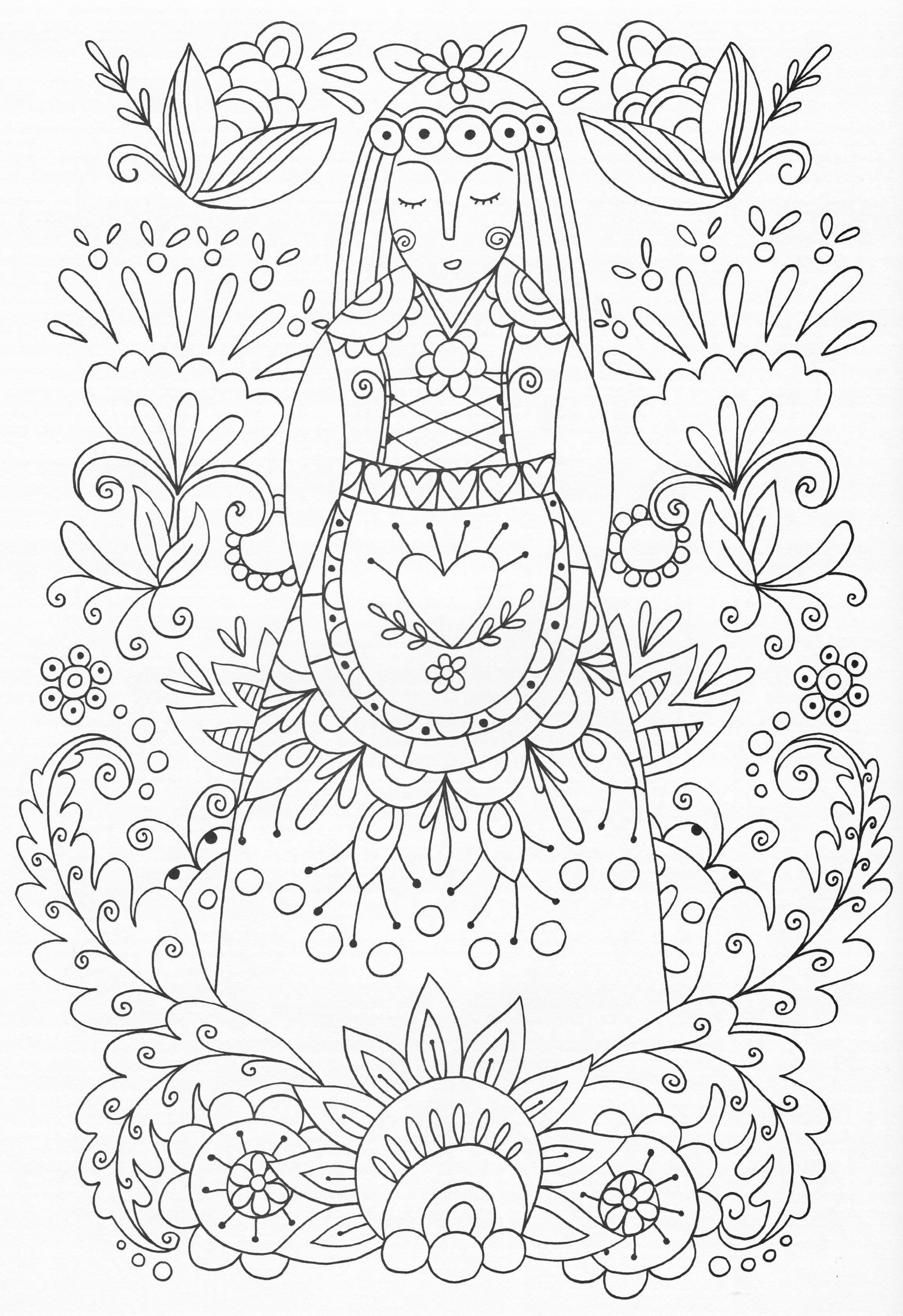 Scandinavian Coloring Book Pg 53 | coloring | Bordado, Colores y ...