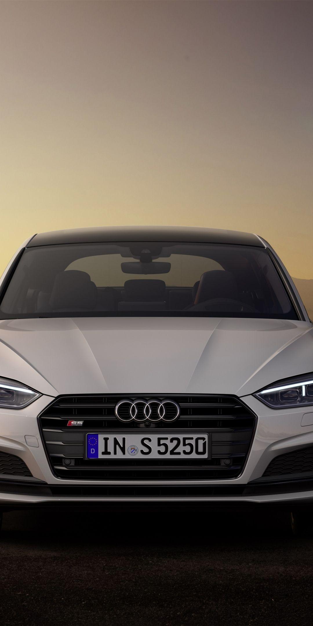1080x2160 White Audi S5 Luxury Car Wallpaper Carros Auto Motos