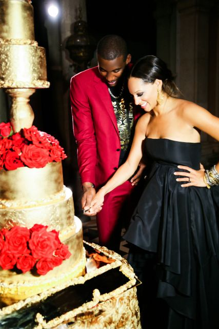 Blackbride Exclusive Amar E And Alexis Stoudemire S Wedding Day Red Suitgold