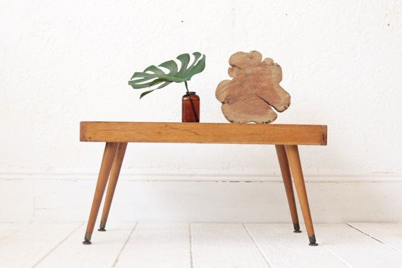 Mid Century Blonde Wood Coffee Table By Othertimesvintage On Etsy Coffee Table Wood Blonde Wood Coffee Table