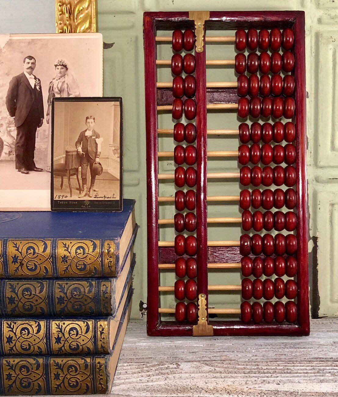 Wood Abacus Vintage Office School Home Decor (With Images